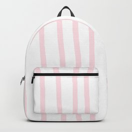Simply Drawn Vertical Stripes in Flamingo Pink Backpack