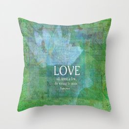 Shakespeare love quote Throw Pillow