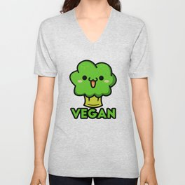Cute vegan Unisex V-Neck