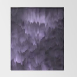 Purple and black. Abstract. Throw Blanket