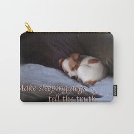 The Truth About Sleeping Dogs Carry-All Pouch
