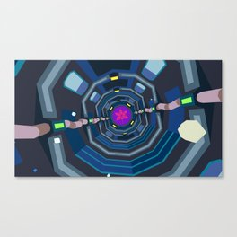 Please Don't, Spacedog! Canvas Print