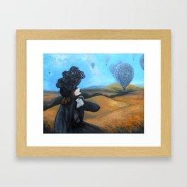 80 Days Vintage Air Balloons Framed Art Print