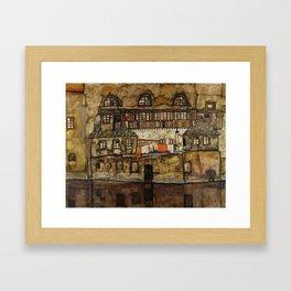 "Egon Schiele ""House Wall on the River"" Framed Art Print"