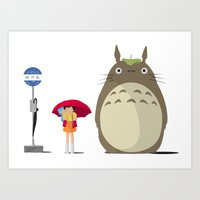 studio ghibli Art Prints featuring Studio Ghibli by adovemore