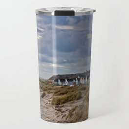 Hengistbury Head Beach Huts Dorset Travel Mug