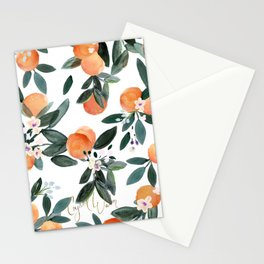Dear Clementine - oranges on white Stationery Cards