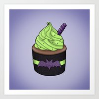 Batty Cupcake Art Print