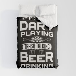 Dart Player Darts Playing Beer Drinking Shirt Gift Comforters