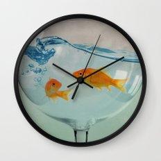 Goldfish glass Wall Clock