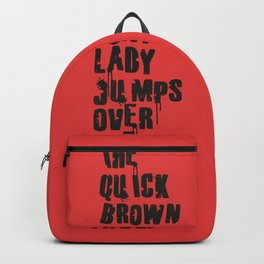 The quick brown foxy Lady - Parents Suck Backpack