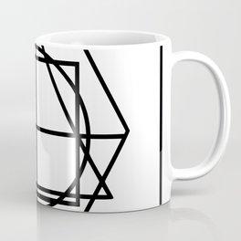 Black lines minimalism Coffee Mug