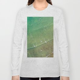 Drone Shot of Surfers from above Long Sleeve T-shirt