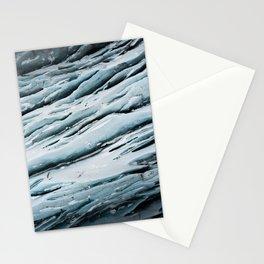 Svinafellsjokulsvegur ice wall in Iceland Stationery Cards