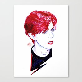The Stars Look Very Different Today // Bowie Canvas Print