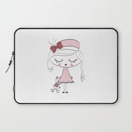 girl and doll Laptop Sleeve