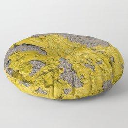 Yellow Peeling Paint on Concrete 2 Floor Pillow