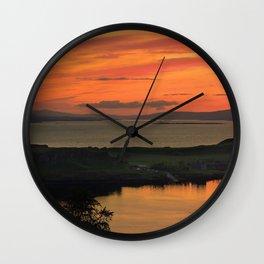 Sunset Over Kerrera Isle Wall Clock