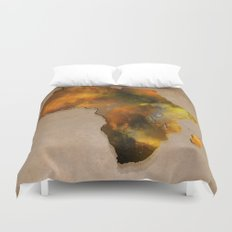 Africa map brown Duvet Cover