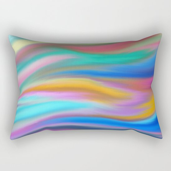 Digital painted texture, silk, liquid print Rectangular Pillow