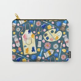 Creative Craft Corner on Dark Teal Carry-All Pouch