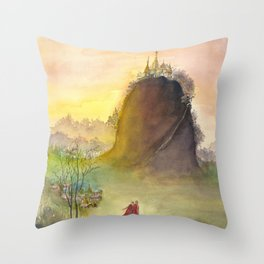 Mount Popa Throw Pillow