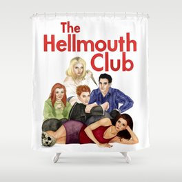 The Hellmouth Club Shower Curtain