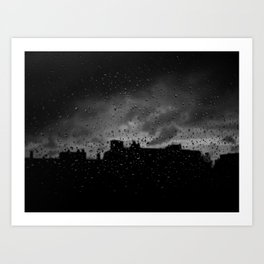 Rainy Day in Brussels Art Print