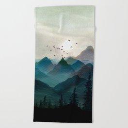 Mountain Sunrise II Beach Towel