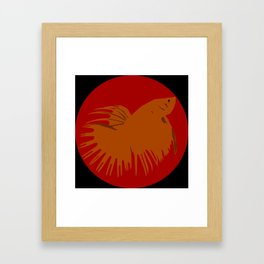 Crowntail Betta Framed Art Print
