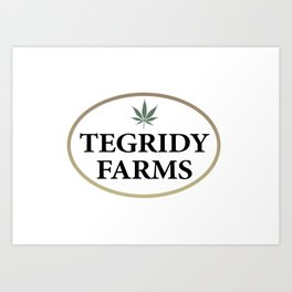 Tegridy Farms Logo Art Print