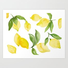 lemon love Art Print
