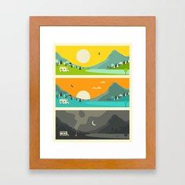 CAMPFIRE 1 Framed Art Print