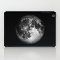 the moon iPad Cases featuring moon by Tudor