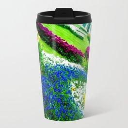 Multicolored tulips. Travel Mug