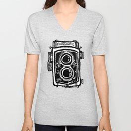 Rolleicord TLR camera Unisex V-Neck