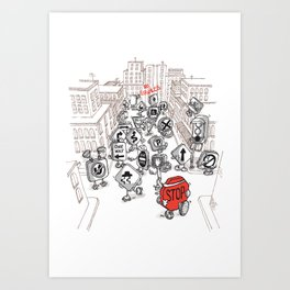 Red Means Go Art Print