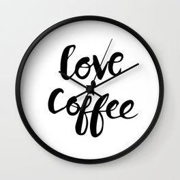 Love + coffee Wall Clock