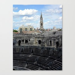 Over the Top of the Arena of Nîmes France Canvas Print