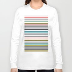 grey and colored stripes Long Sleeve T-shirt