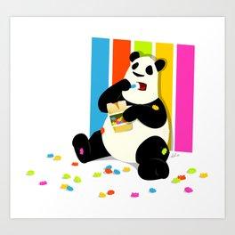 Panda Gummi Bear Art Print