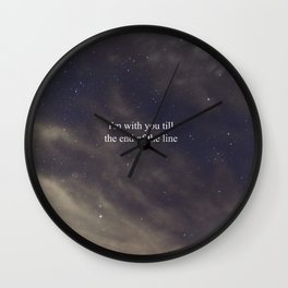 Till the End of the Line Wall Clock