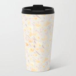 Floral watercolor orange pattern 2 Metal Travel Mug
