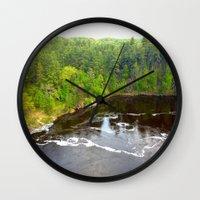 minnesota Wall Clocks featuring Minnesota Daybreak by JayKay