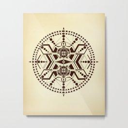 Tribal turtle Mandala Metal Print