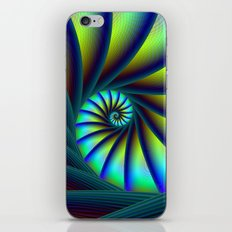 Staircase Spiral in Blue and Turquoise iPhone & iPod Skin