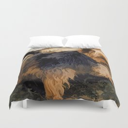 Cute Little Yorkie   - Yorkshire Terrier Dog Duvet Cover