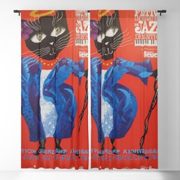 1994 Montreal Jazz Festival Cool Cat Poster No. 2 Gig Advertisement Blackout Curtain