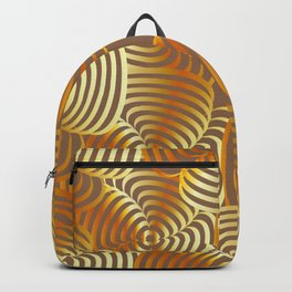 Gold floral art Backpack
