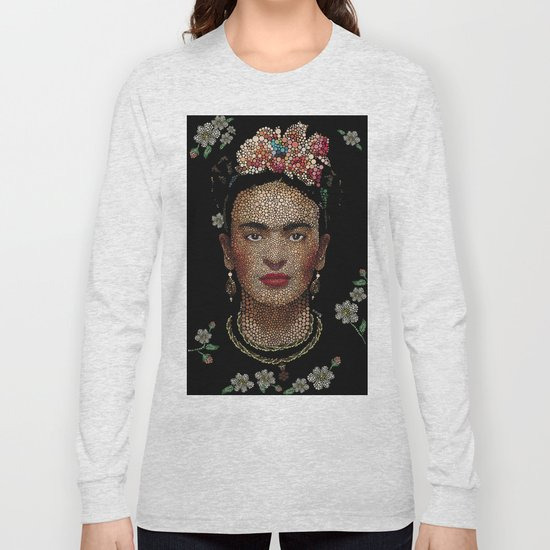 Frida Kahlo dots by edleon